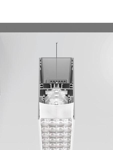 Artemide Architectural A.39 Suspension Controlled Emission UP/DOWN DALI/APP AR AT19405 Argent