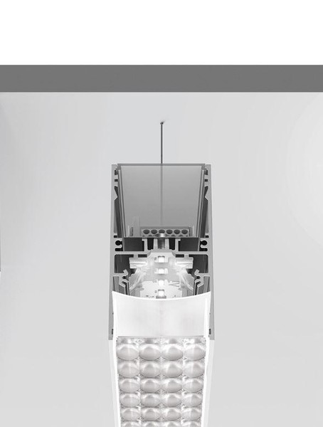 Artemide Architectural A.39 Suspension Controlled Emission UP/DOWN DALI/APP AR AT22405 Argent
