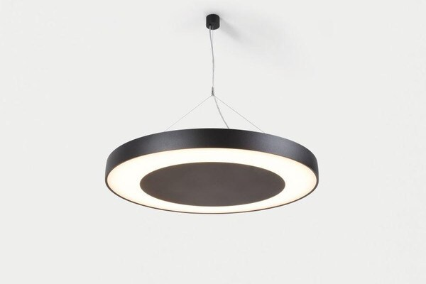 Modular Lighting Flat Moon Eclips 650 Suspension Down LED Dali/pushdim GI MO 13372432 Noir structuré