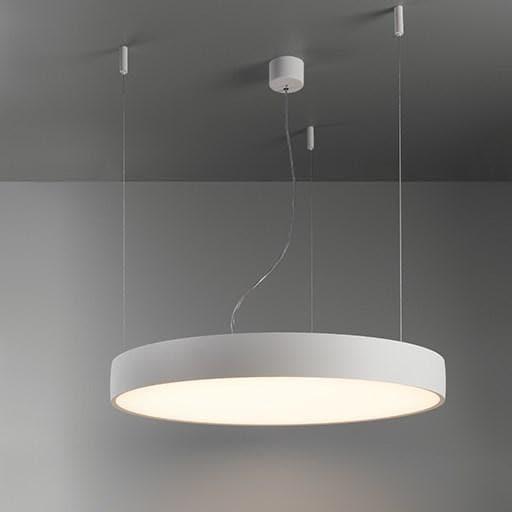 Modular Lighting Flat Moon 950 Suspension Up/Down LED Dali/pushdim GI MO 13308309 Blanc structuré